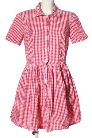 Stefanel Sukienka o kroju litery A czerwony-biały Na całej powierzchni