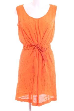 Stefanel A-Linien Kleid hellorange Casual-Look