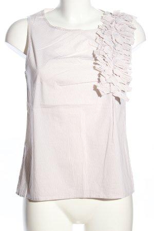 Stefanel A-Linien Top creme-weiß Allover-Druck Casual-Look