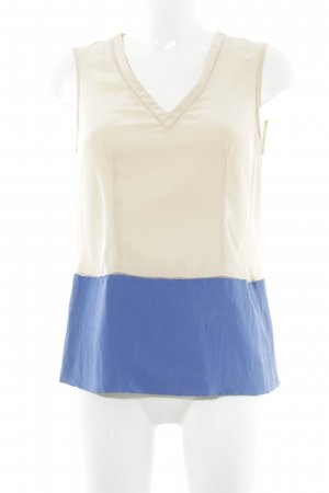Stefanel ärmellose Bluse nude-blau Casual-Look