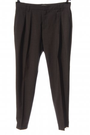 Stefanel Suit Trouser brown striped pattern business style