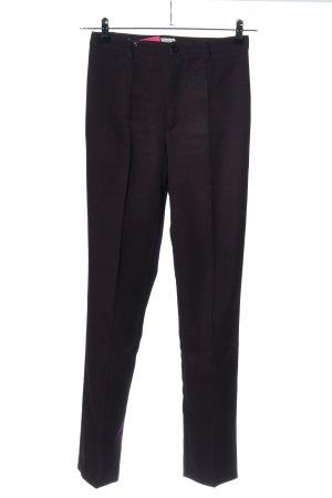 Stefanel Spodnie garniturowe brązowo-fioletowy W stylu biznesowym