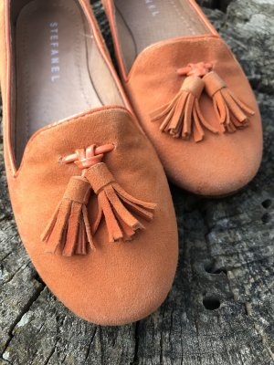 Stefanel Ballerinas orange Wildleder Gr 37
