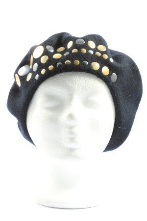 Stefanel Berretto basco nero-oro stile casual