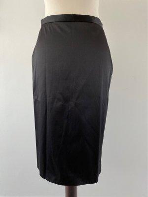 Stefanel Ołówkowa spódnica czarny Bawełna