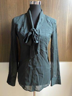 Stefanel Tie-neck Blouse dark green