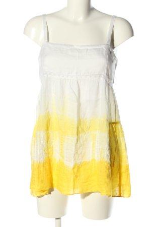 Stefanel Blusentop weiß-blassgelb Farbverlauf Casual-Look