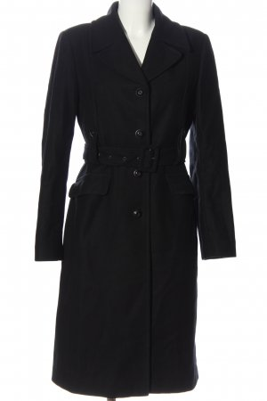 Stefanel bodenlanger Mantel schwarz Casual-Look