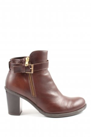 Stefanel Booties braun Business-Look