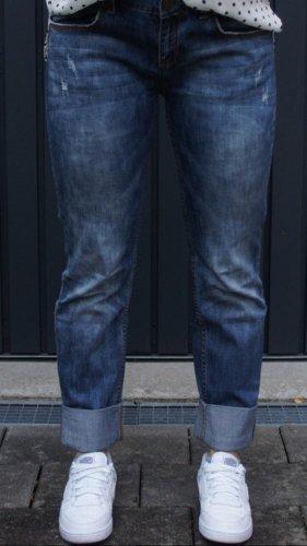 Stefanel Boyfriend Jeans blue-dark blue