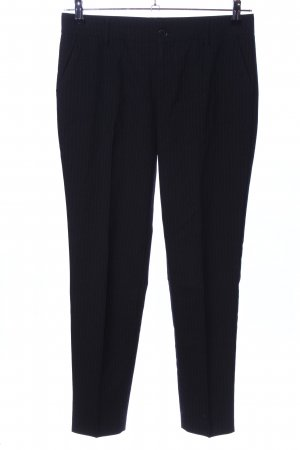Stefanel Pleated Trousers black striped pattern casual look
