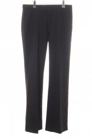 Stefanel Bundfaltenhose schwarz Business-Look
