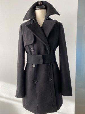 Stefanel Pea Jacket black wool
