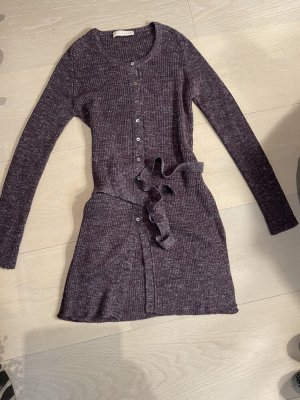Stefanel Veste en tricot gris violet tissu mixte