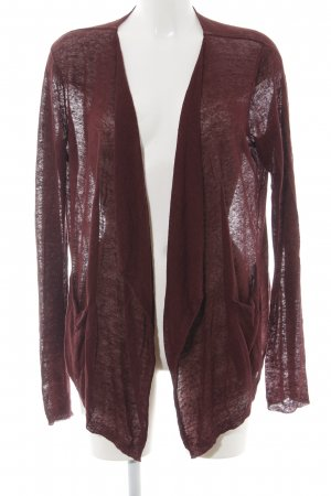 Stefanel Cardigan rot meliert Casual-Look