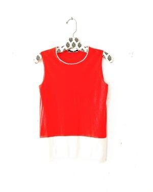 Stefanel • cashmere pulli • top • orange • creme