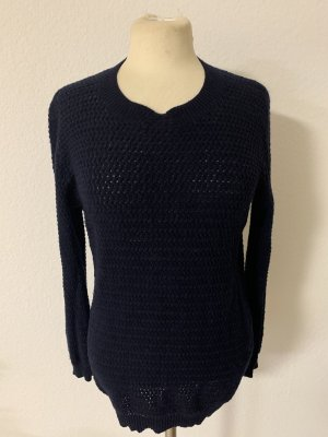 Stefanel Crochet Sweater dark blue