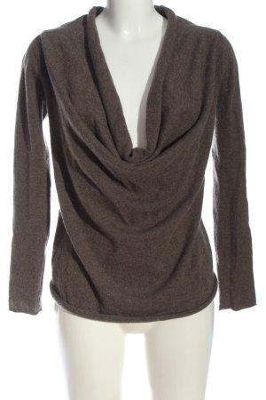Stefanel Kaszmirowy sweter brązowy W stylu casual