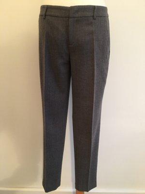 Stefanel Pantalon chinos gris laine
