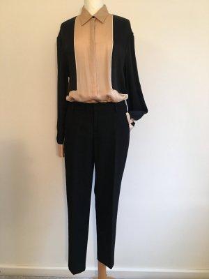 Stefanel Pantalon chinos noir laine