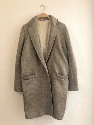 Stefanel Collectible Designer Mantel * Jacke * Oversized * Strick grau Gr M