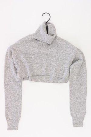 Stefanel Crop Pullover grau Größe M
