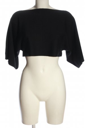 Stefanel Cropped Pullover schwarz Casual-Look