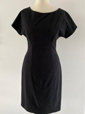 Stefanel Ołówkowa sukienka czarny Wiskoza