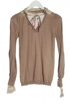 Stefanel Fine Knit Jumper nude-natural white flecked casual look
