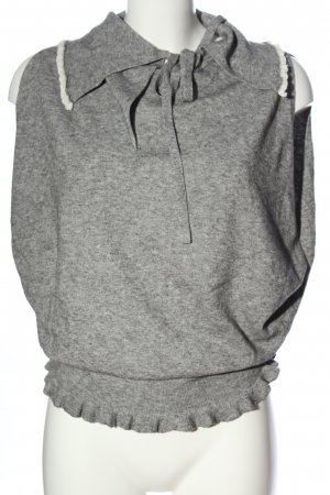 Stefanel Cardigan en maille fine gris clair moucheté style décontracté