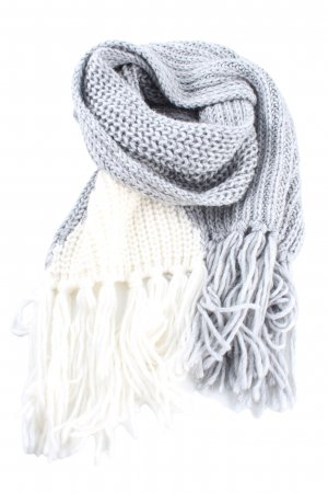 Stefanel Fringed Scarf blue-white casual look