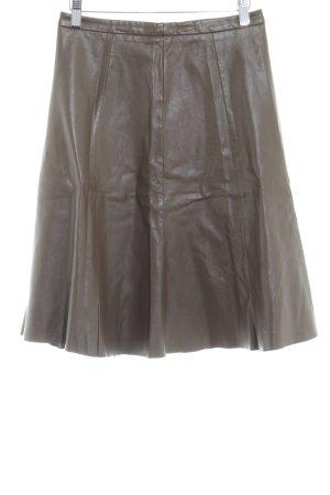 Stefanel Flared Skirt grey brown casual look