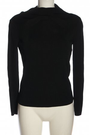 Stefanel Coarse Knitted Sweater black casual look