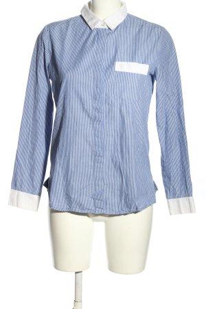 Stefanel Hemd-Bluse blau-weiß Streifenmuster Business-Look