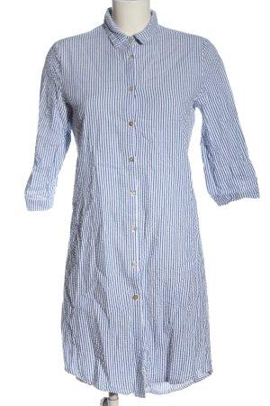 Stefanel Vestido tipo blusón blanco-azul estampado a rayas look casual