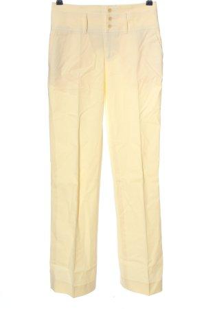 Stefanel High-Waist Hose blassgelb klassischer Stil