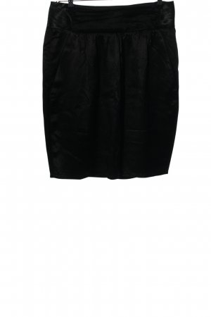 Stefanel High Waist Rock schwarz Business-Look