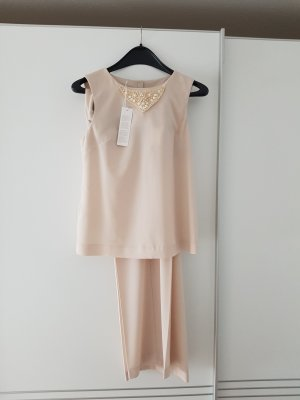 Stefanel Trouser Suit gold-colored polyester