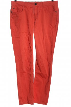 Stefanel Low-Rise Trousers red casual look