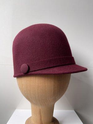 Stefanel Wollen hoed bordeaux Wol