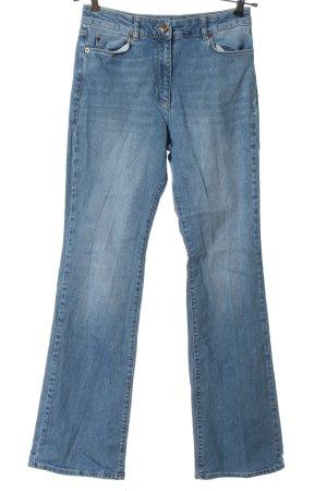 Stefanel Jeansschlaghose blau Casual-Look