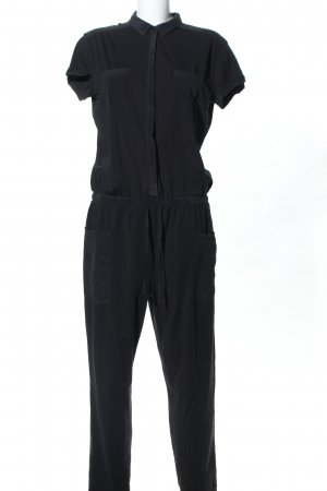 Stefanel Jumpsuit schwarz Business-Look