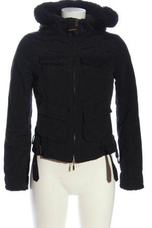 Stefanel Giacca con cappuccio nero stile casual