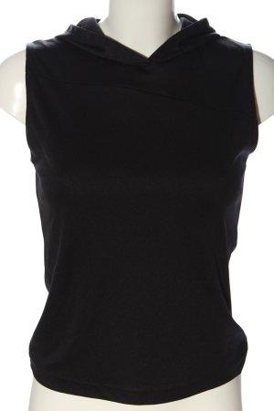 Stefanel Top à capuche noir style décontracté