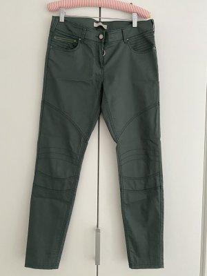 Stefanel Pantalone a sigaretta cachi-verde scuro