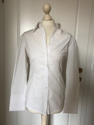 Stefanel klassische Langarm Hemd-Bluse weiß