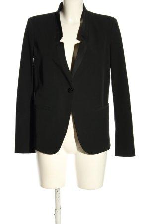 Stefanel Klassischer Blazer zwart zakelijke stijl