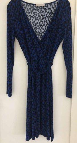 Stefanel Kopertowa sukienka ciemnoniebieski-czarny