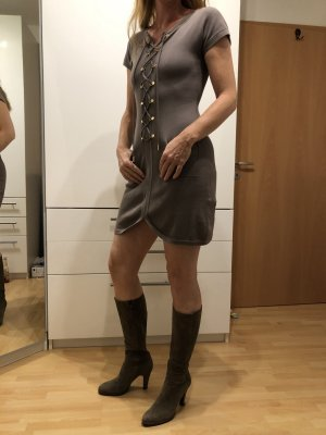 Stefanel Veste chemise gris brun