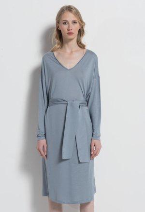 Stefanel Kleid Lyocell grau blau oversize Gr. XL NEU